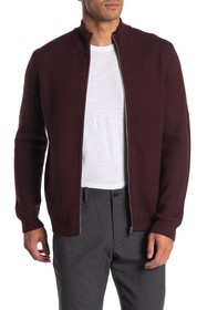 Theory Rovira Zip Front Wool Cardigan