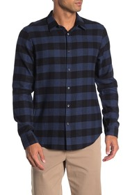 Theory Irving Buffalo Plaid Check Flannel Shirt