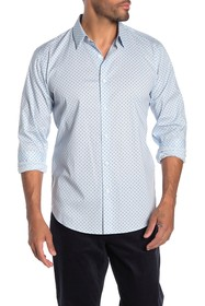 Theory Stitch Print Sport Shirt
