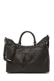 AMERICAN LEATHER CO. Montana Pleated Leather Satch