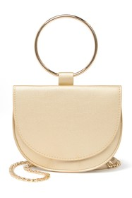 Trouve Trouve Reese Faux Leather Ring Crossbody Ba