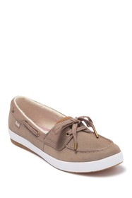 Keds Charter Faux Fur Lined Suede Boat Sneaker
