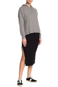 LNA Rib Knit Side Vent Skirt