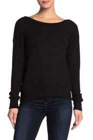 LNA Open Back Boatneck Long Sleeve Sweater
