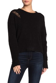 LNA Alpaca Blend Distressed Sweater