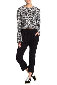 LNA Rib Knit Harem Pants