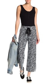 LNA Zebra Drawstring Wide Leg Pants