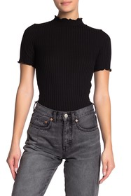LNA Camille Mock Neck Sweater
