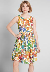 ModCloth ModCloth Pretty Midi A-Line Dress White