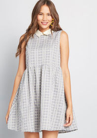 ModCloth ModCloth Dynamic Dreamer Collared Dress G