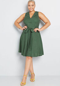 ModCloth ModCloth Retro Blend Midi Dress Green