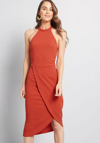ModCloth Exceptional at All Angles Sheath Dress Ru