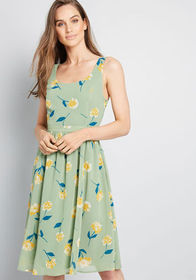 ModCloth ModCloth Freeing Feeling Midi Dress Green