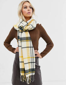 New Look scarf in yellow check