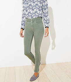 Double Shank High Rise Slim Pocket Skinny Jeans in