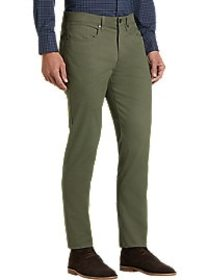 Joseph Abboud Olive Classic Fit Twill Casual Pants