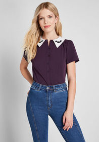 ModCloth ModCloth Party Favorite Short Sleeve Top
