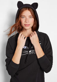 Practical Magic Cat Ears Hoodie Black