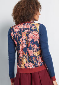 ModCloth ModCloth Layer Lover Twofer Cardigan Blue