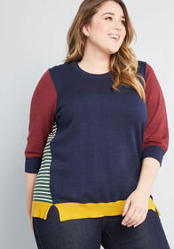 ModCloth ModCloth Well-Placed Pep Colorblock Sweat
