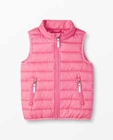 Hanna Andersson Superlight Down Vest in Power Pink