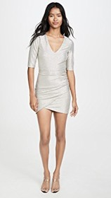 alice + olivia Judy Short Sleeve Ruched Dress