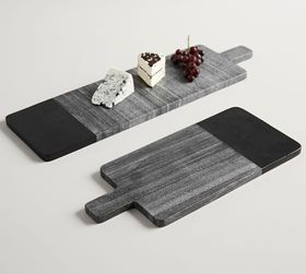 Pottery Barn Acacia Wood & Marble Cheese Boards