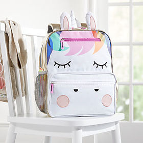 Crate Barrel Rainbow Unicorn Backpack