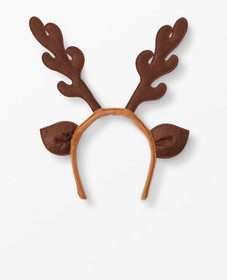 Hanna Andersson Reindeer Headband in Carpenter Bro