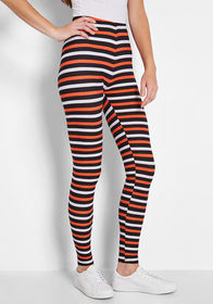 Scary Lines Striped Halloween Leggings STRIPE