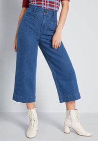 ModCloth ModCloth The Brooklyn Cropped Jeans Mediu
