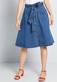 ModCloth ModCloth In Love With Everywhere Denim Sk