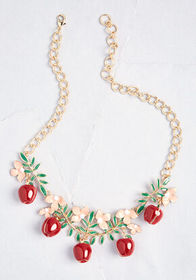 An Apple a Day Statement Necklace Red