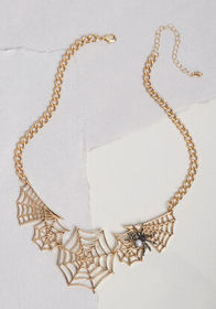 Caught You Statement Necklace Gold