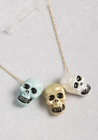 Skull Spirit Short Pendant Necklace GOLD