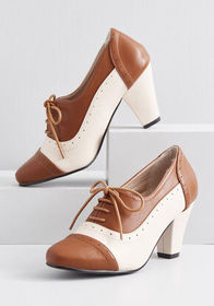 Plans to Dance Oxford Heel Brown Multi