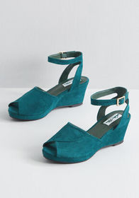 Mystery Unlocked Platform Wedge Green