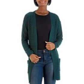 UNITED STATES SWEATERS Cable Knit Cardigan with Po