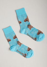 Strike a Pose Walrus Socks Blue