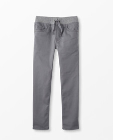 Hanna Andersson Jersey Lined Slim Pants In Stretch