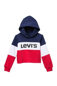 Levi's Colorblock Cropped Hoodie (Toddler Girls)