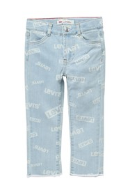 Levi's High Rise Ankle Straight Jeans (Little Girl