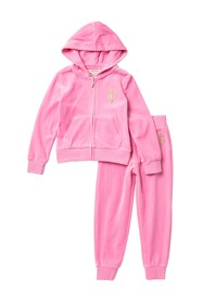 Juicy Couture Velour Track Suit (Toddler Girls)