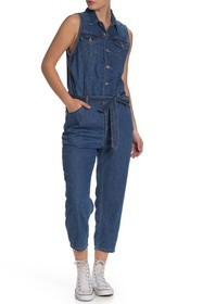 Levi's Cropped Tapered Jumpsuit