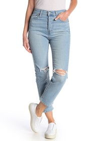 Levi's Wedge Distressed Straight Jeans