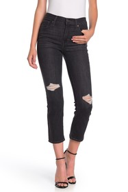 Levi's 724 High Rise Distressed Straight Crop Jean