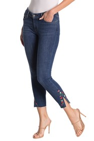 Levi's 711 Floral Embroidered Raw Crop Skinny Jean