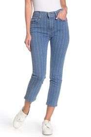 Levi's 724 High Rise Straight Leg Cropped Jeans