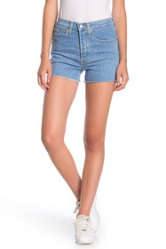 Levi's 501 Original Button Fly High Rise Frayed Sh