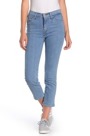 Levi's 724 Striped High Rise Straight Crop Jeans